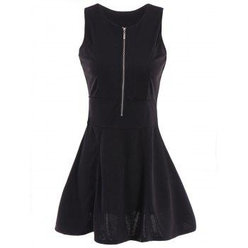 Elegant Women's Scoop Neck Black Sundress