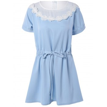 Sweet Applique Laciness Dress For Women