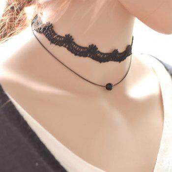 Flower Lace Bead Choker