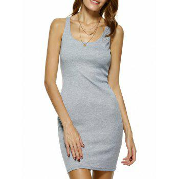Bodycon Square Neck Mini Tank Dress