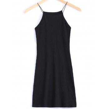 Brief Women's Spaghetti Strap Pure Color Slimming Dress