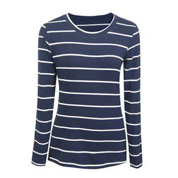 Casual Striped Slimming Women's T-Shirt