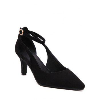 Chic Ankle Strap and Hollow Out Design Women's Pumps