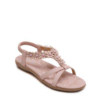 Casual Flowers and T Bar Design Women's Sandals