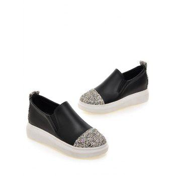 Fashionable Sequins and Slip-On Design Women's Platform Shoes - 38 38