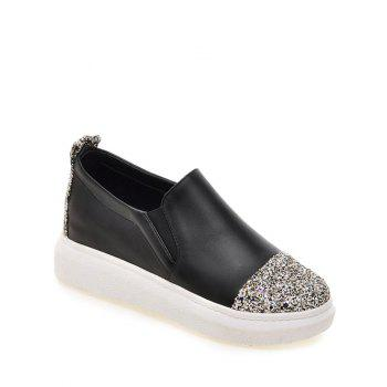 Fashionable Sequins and Slip-On Design Women's Platform Shoes