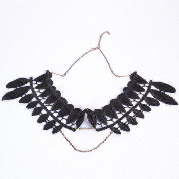 Leaf Fake Collar Necklace