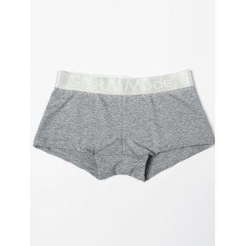 Low Waisted Color Block Black & White & Grey Three Boxers For One Box - COLORMIX M
