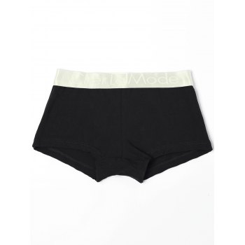 Low Waisted Color Block Black & White & Grey Three Boxers For One Box - COLORMIX S