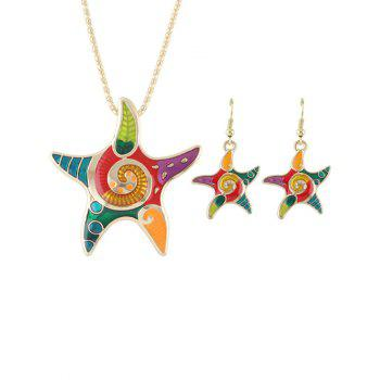 Starfish Necklace and Earrings Set - GOLDEN GOLDEN