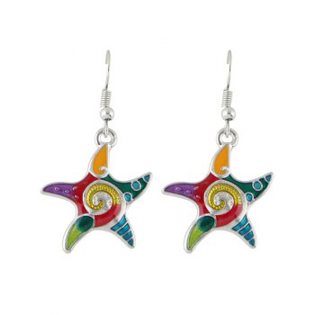 Starfish Necklace and Earrings Set -  SILVER