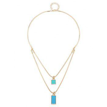 Vintage Multilayered Geometric Necklace