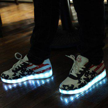 Patchwork Led Shoes Sneakers - COLORMIX 43