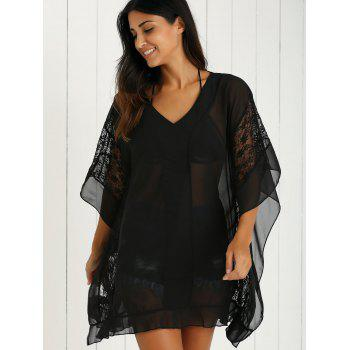 Charming Lace Spliced Loose-Fitting Women's Dress