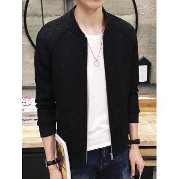 Elegant Lace Design Long Sleeves Jacket For Men