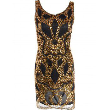Mesh Sequin Club Sparkly Flapper Dress