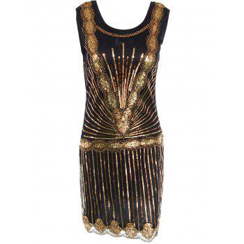 Sequin Mini Glitter Vintage Flapper Dress
