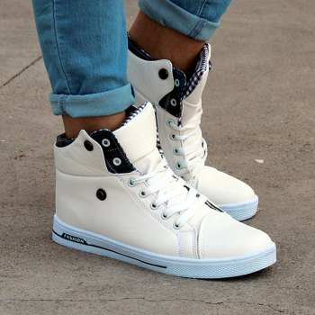 Fashion Check and Fold Design Casual Shoes For Men