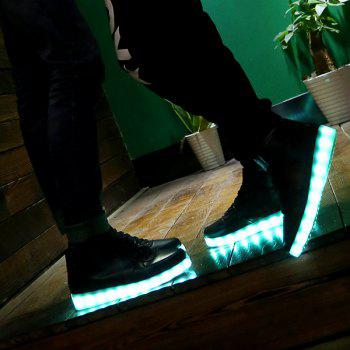 Chic Lights Up Led Luminous and Tie Up Design Women's Athletic Shoes - BLACK 41