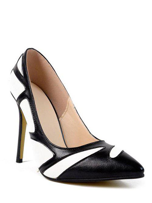 Stylish Color Splice and Stiletto Heel Design Women's Pumps