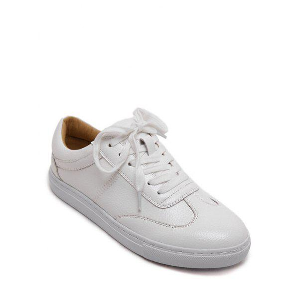 Stylish Tie Up and White Design Women's Athletic Shoes