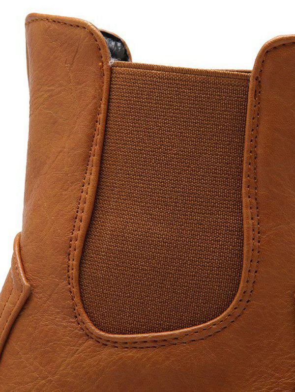 Simple Solid Color and Elastic Band Design Women's Short Boots - BROWN 39
