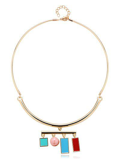 Graceful Geometric Bead Necklace - GOLDEN