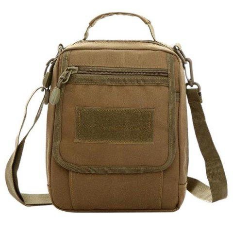 Trendy Camouflage Pattern and Canvas Design Women's Satchel - BROWN