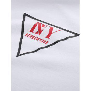 BoyNewYork 3D Figure Pattern Star Printed T-Shirt - WHITE L