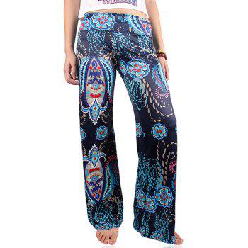 Low-Waist Ethnic Print Exumas Pants