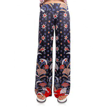 Trendy Women's Loose Floral Print Dotted Exumas Pants