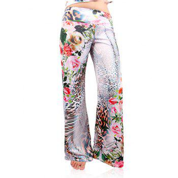 Fashionable Women's Leopard Print Wide-Leg Exumas Pants