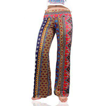 Vintage Women's Tribal Print Loose Exumas Pants
