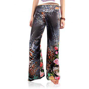 Chic Women's Leopard Print Loose Exumas Pants