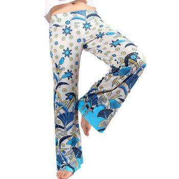 Tropical Floral Wide Leg Exumas Palazzo Pants