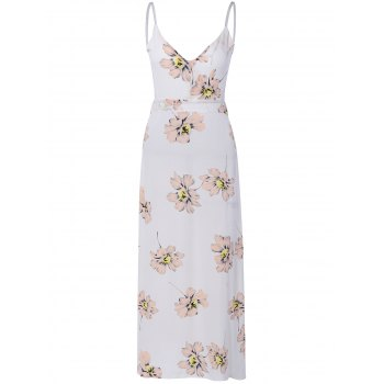 Sweet Open Back Floral Formal Maix Dress For Women