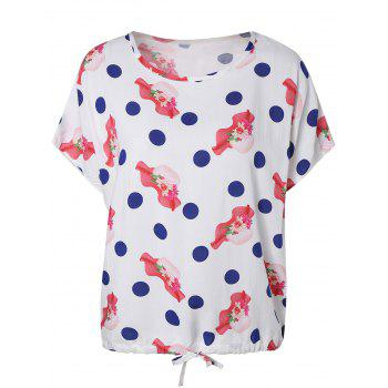 Cute Polka Dot Hat Pattern Blouse