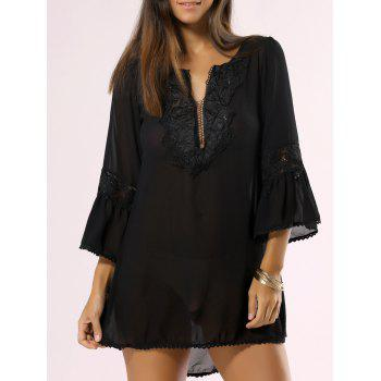 Buy Bohemian Style Guipure Light Cover-Up BLACK