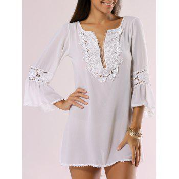 Buy Bohemian Style Guipure Light Cover-Up WHITE