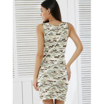 Trendy Camouflage Print Skinny Tank Dress For Women - CAMOUFLAGE L