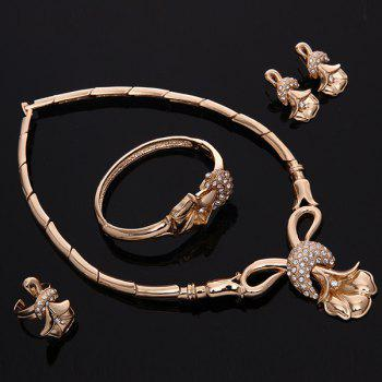 A Suit of Flower Moon Wedding Jewelry Set - GOLDEN ONE-SIZE