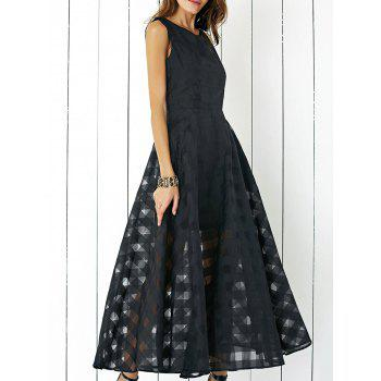 Layered Flowy Maxi Party Carpet Dress