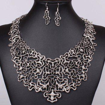 A Suit of Irregular Filigree Jewelry Set