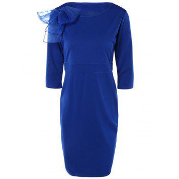Chic Bowknot Embellished Solid Color Skinny Women's Dress