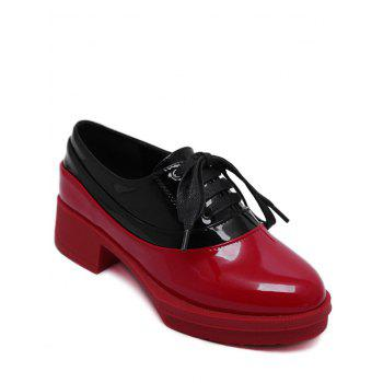 Trendy Tie Up and Colour Block Design Women's Platform Shoes