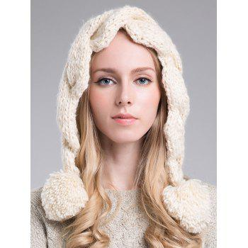 Stylish Ball Embellished Faux Wool Hat