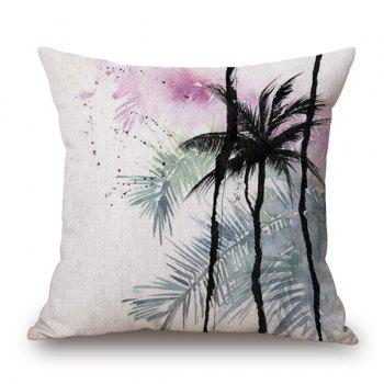 Watercolor Palm Tree Printed Cushion Cover Throw Pillow Case