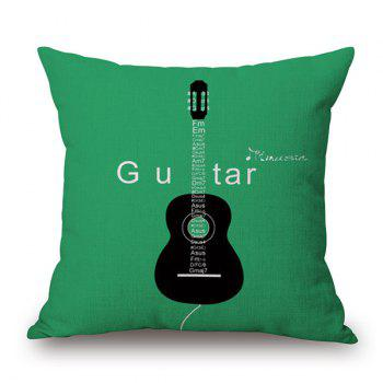 Guitar Pattern Decorative Throw Cover Pillow Case