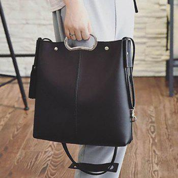 Concise Tassels and Color Scissor Design Women's Tote Bag -  BLACK