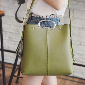 Concise Tassels and Color Scissor Design Women's Tote Bag -  GREEN